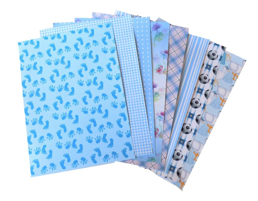 Blue Card Making Backing A5 Papers