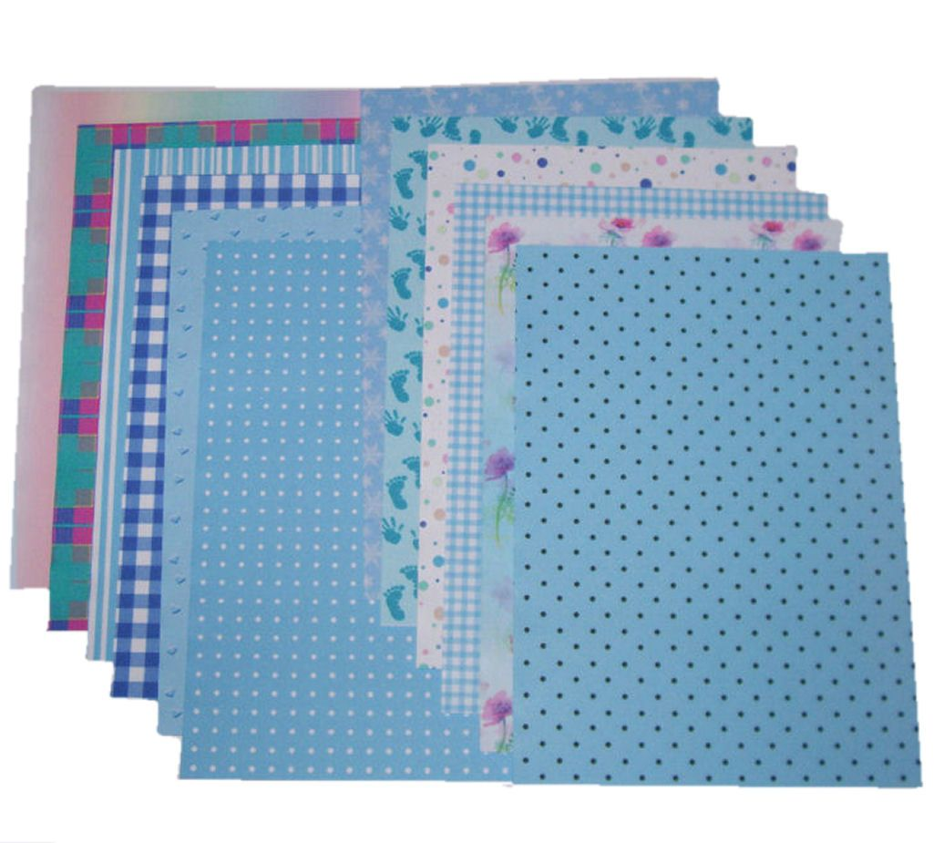 Blue Craft A5 Papers Assorted Styles and Designs