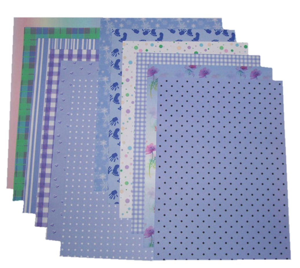 Purple Craft A5 Papers Assorted Styles and Designs