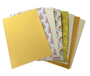 Yellow A5 Card Making Backing Papers