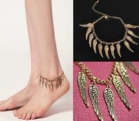 Bronze effect Angel Wing Anklet