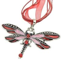 Red Dragonfly Pendant Necklace