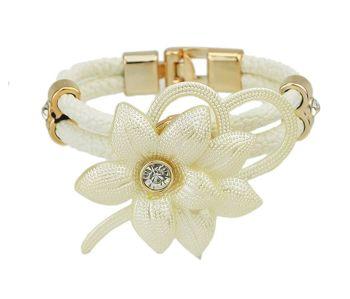 Floral Child's Bracelet - White