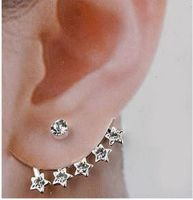 Stars Themed Silver Cuff Earring