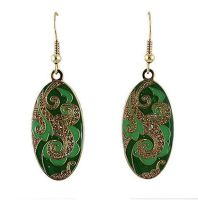 Green Indian Inspired Earrings