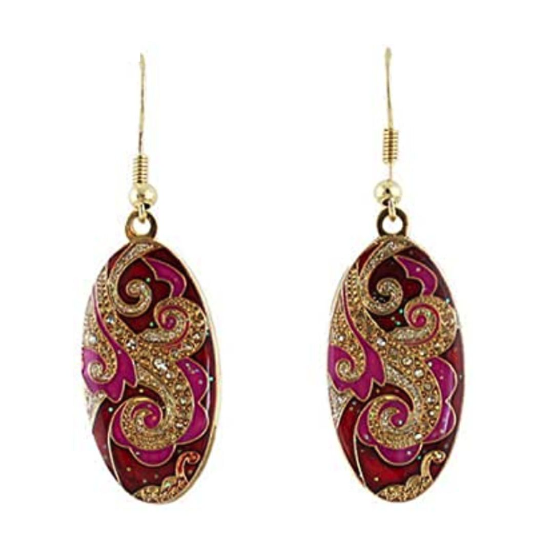 Red Indian Inspired Earrings