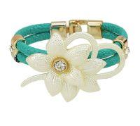 Floral Child's Bracelet - Green