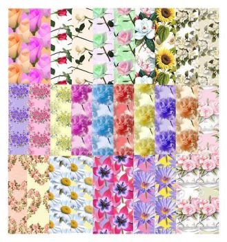 Flowers Assorted Designs Craft A5 Backing Papers