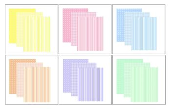 Pastel Gingham, Polkadot and Stripes Craft A5 Backing Papers