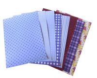 Purple A5 Card Making Backing Papers