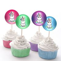 Unicorn Birthday Party Cupcake Cake Fairy Cake Toppers