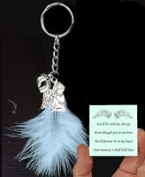 Baby Passing Keepsake Keyring in Blue Theme