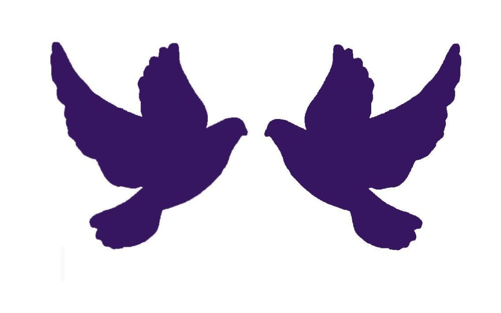 Purple Doves Crafting Embellishments x 30
