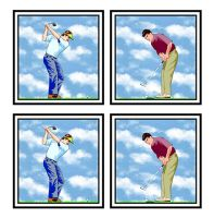 Golf Players Cardmaking Craft Toppers