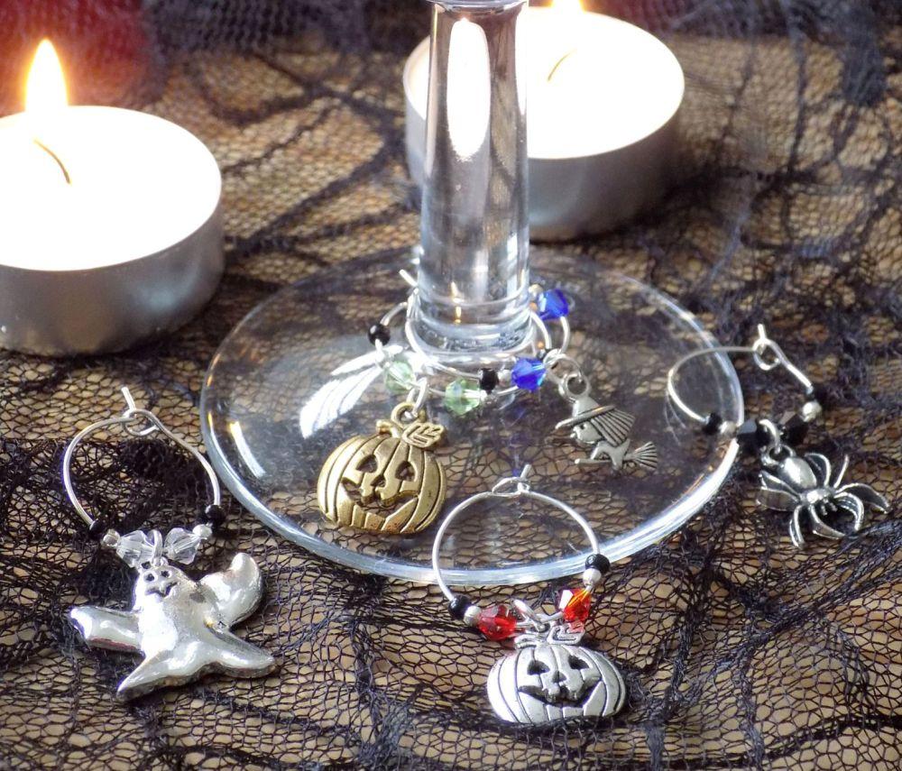 Halloween Wine Glass Charms x 5