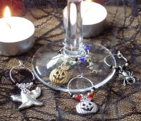 Halloween Wine Glass Charms x 5