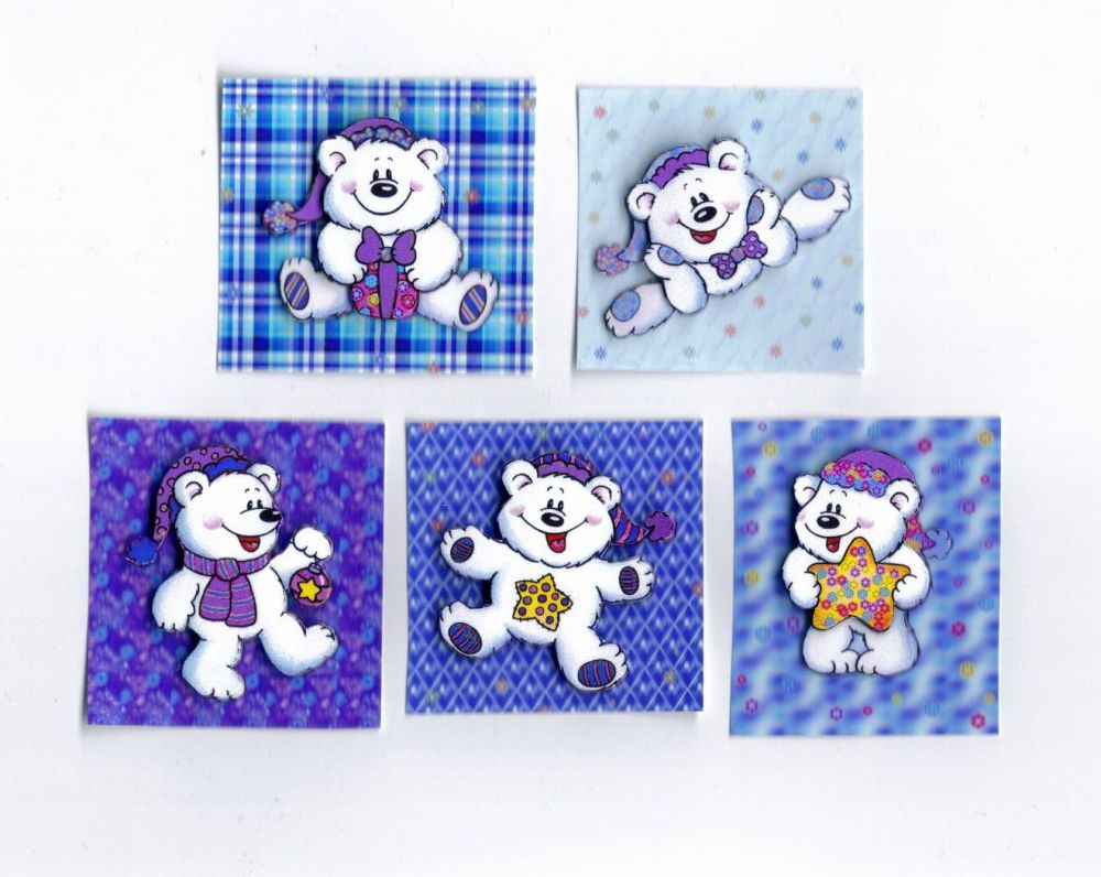 Christmas Teddy Bear Embellishments Card Making Toppers