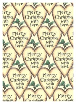 Cream Merry Christmas Card Making Backing Papers