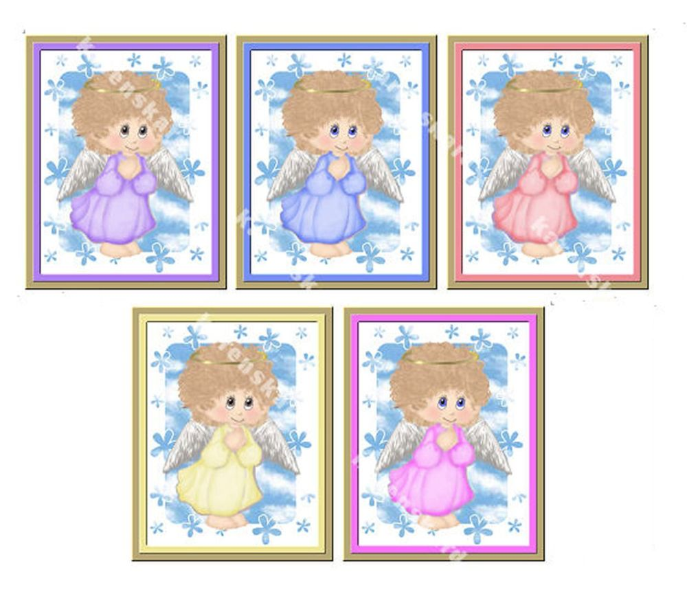 Praying Angel Card Making Topper Embellishments