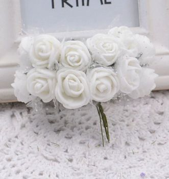 Artificial Roses Flowers - White