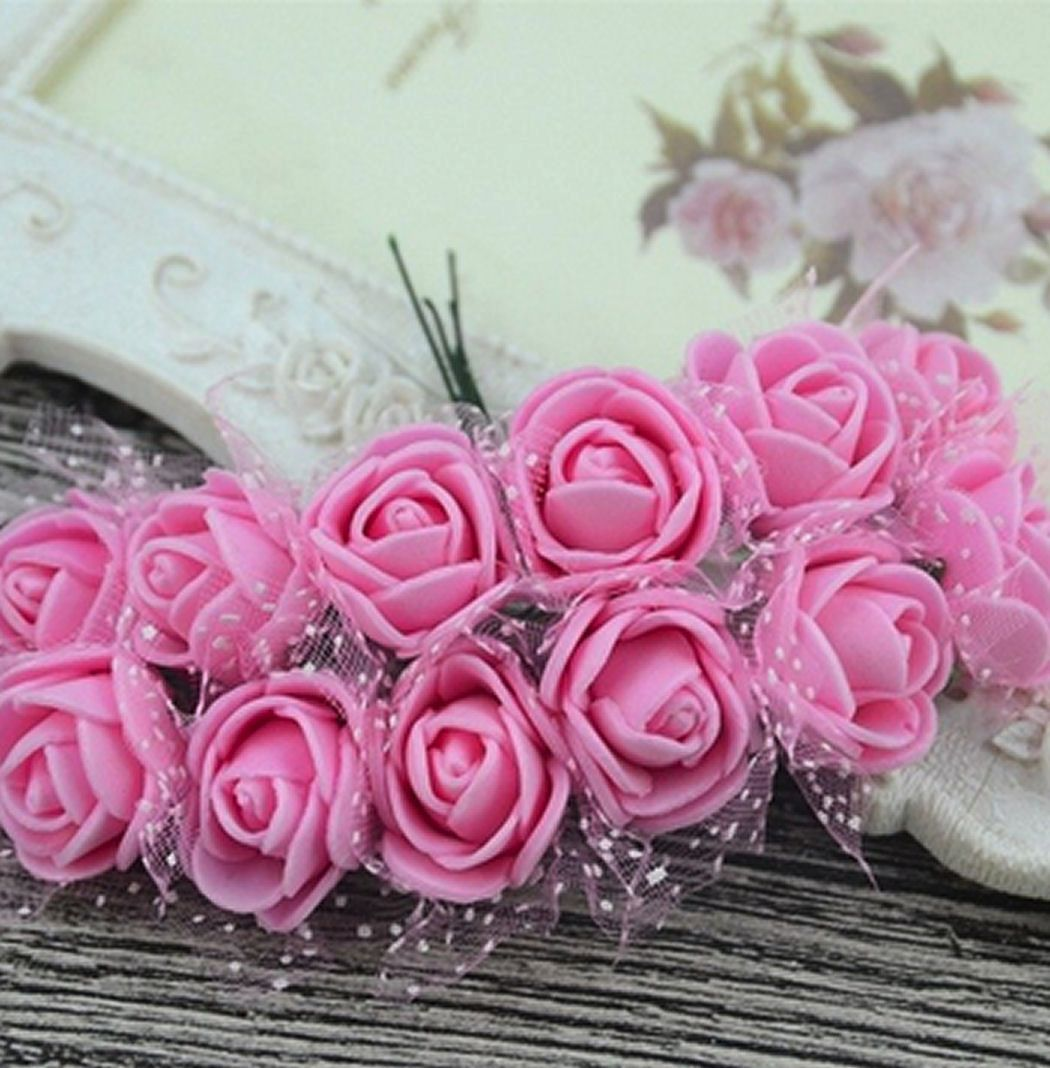 Artificial Roses Flowers - Dark Pink