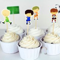 Football Birthday Cake Toppers x 24
