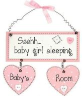 Baby Girl Room Hanging Plaque