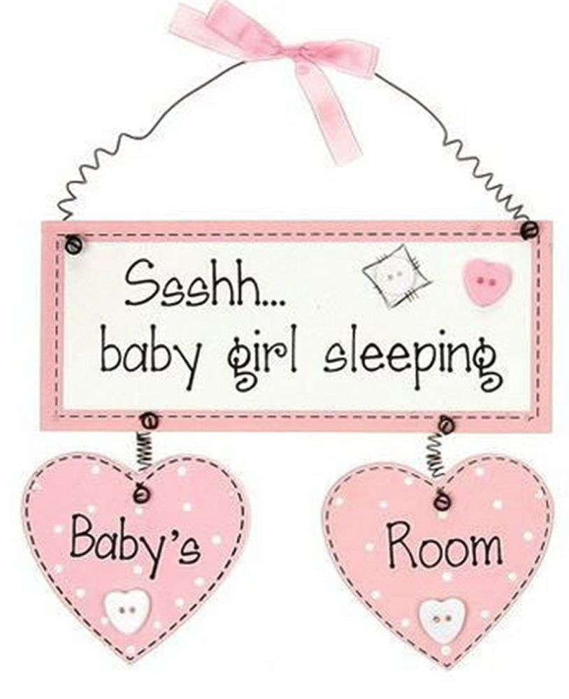 Baby Girl Room Hanging Plaque