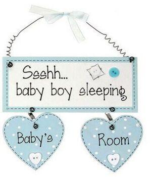 Baby Boy Room Hanging Plaque