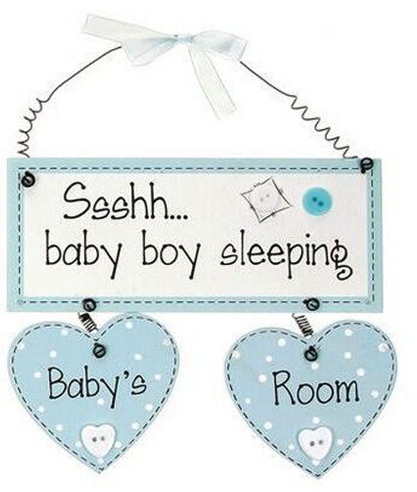 Baby Boy Room Hanging Plaque