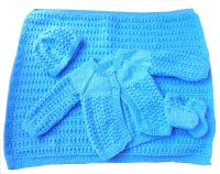 Baby Boy Blue Matinee Set