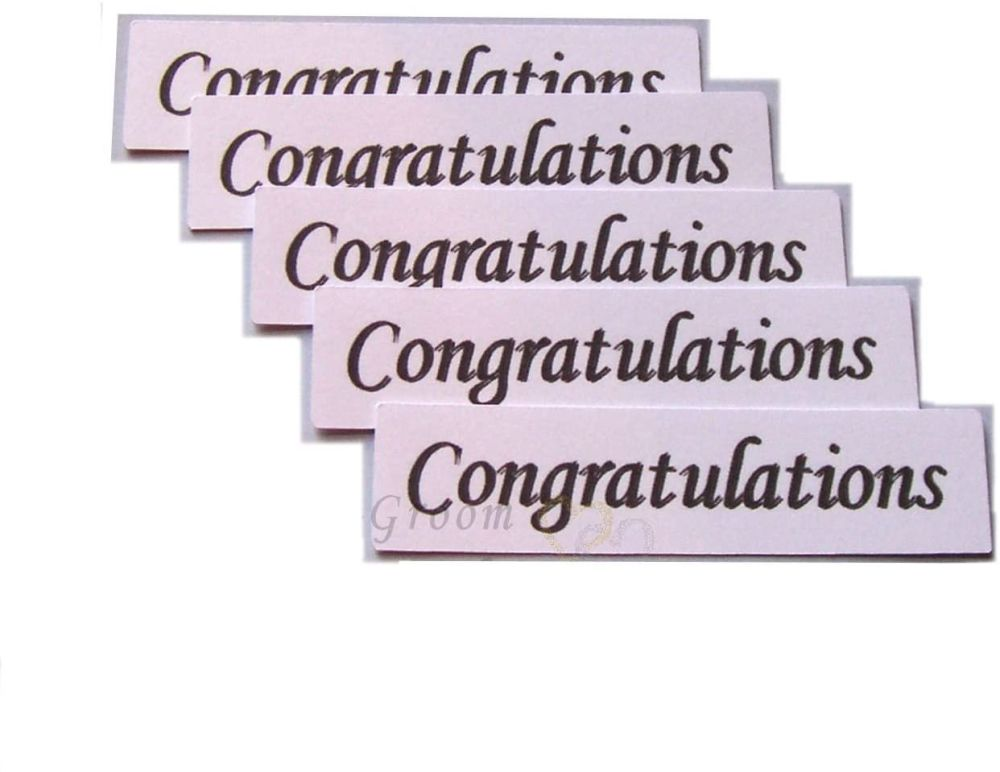 Congratulations Banners Embellishments for Card Making