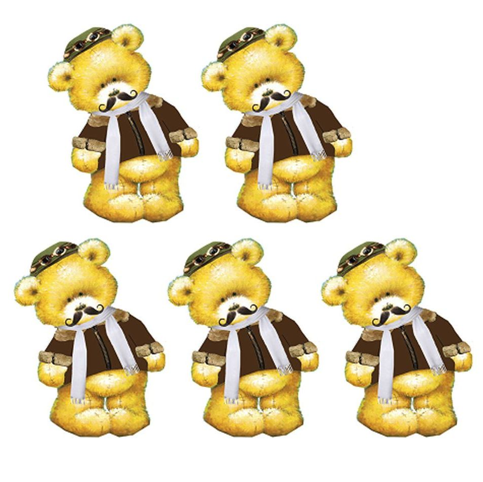 1940s Pilot Teddy Bear Card Toppers