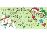 Our First Christmas Together Hanging Sign
