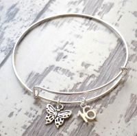 16th Birthday Butterfly and Number Charm Bracelet