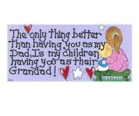 Dad Grandad Hanging Sign