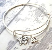 40th Birthday Butterfly and Number Charm Bracelet