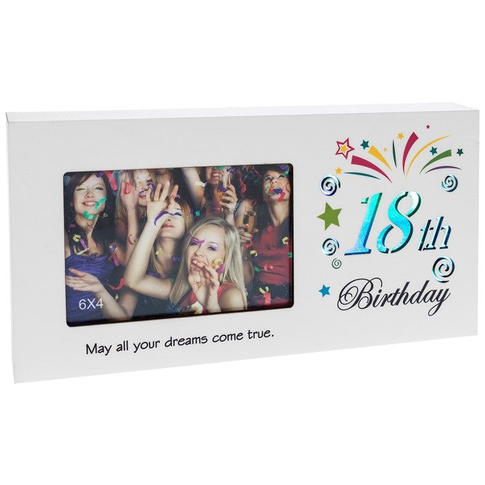 18th Birthday Light Up Colour Changing Photo Frame