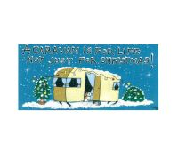 Caravan Christmas Hanging Sign