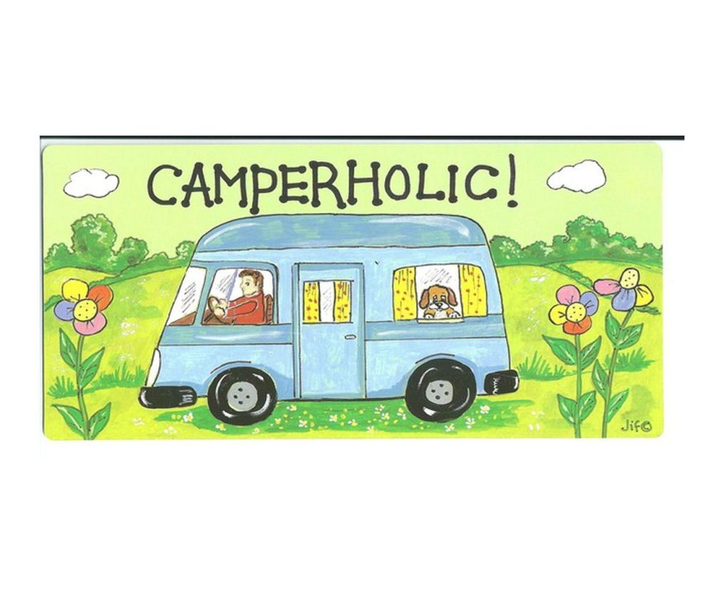 Caravan Hanging Caravan Sign, Camperholic!