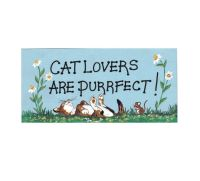 Cat Lovers are Purrfect! Hanging Sign