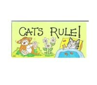 Cats Rule! Hanging Sign