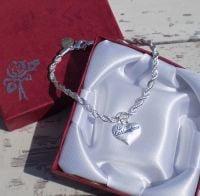 Goddaughter Christening Silver Charm Bracelet