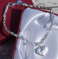Aunt of the Bride Wedding Special Occasion Silver Charm Bracelet