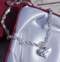 Mother of the Bride Wedding Special Occasion Silver Charm Bracelet