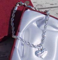 Mother of the Groom Wedding Special Occasion Silver Charm Bracelet