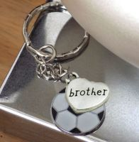 Brother Keyring with Football Charm