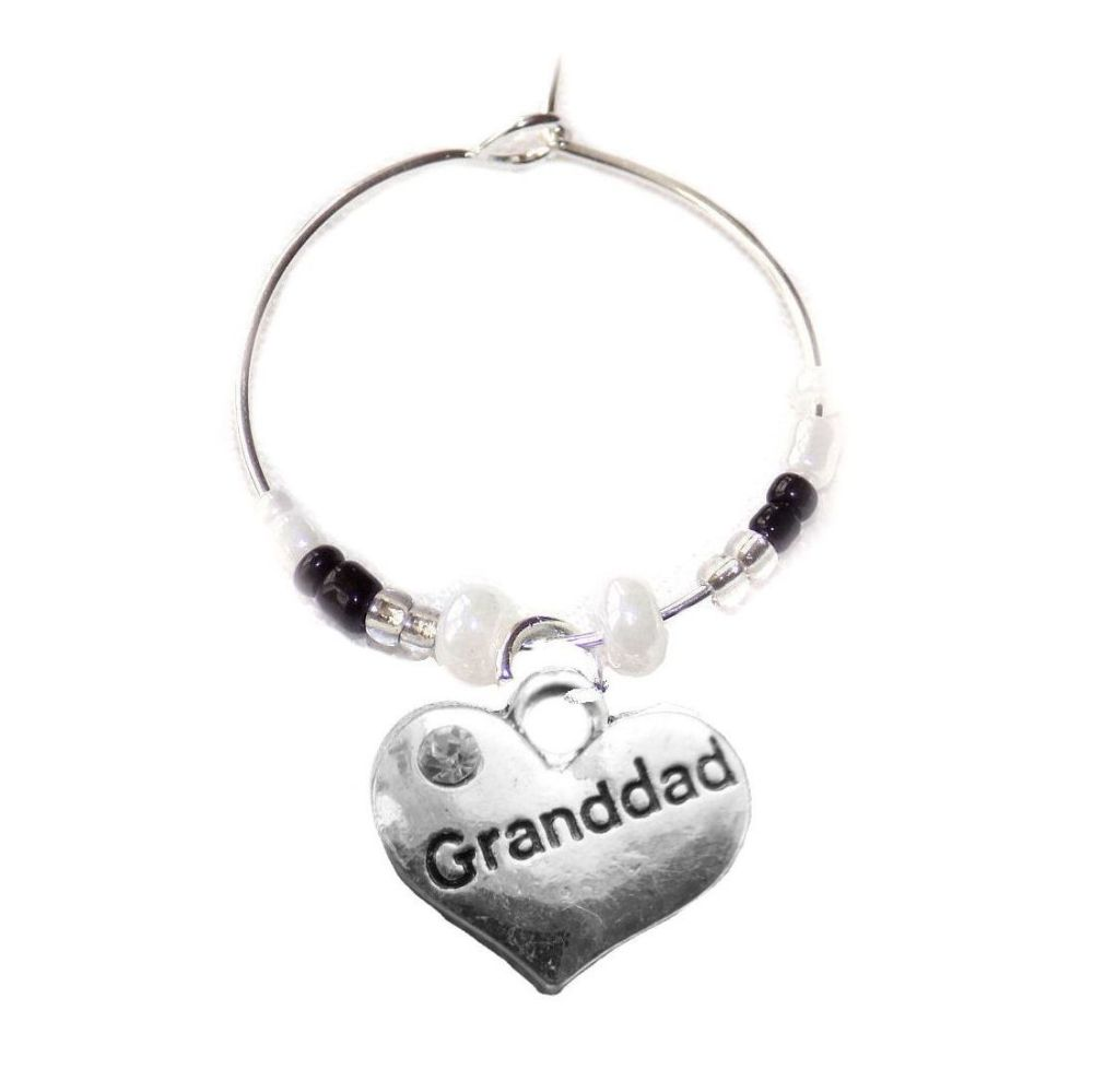 Grandad Wine Glass Charm Birthday, Christmas, Father's Day gift