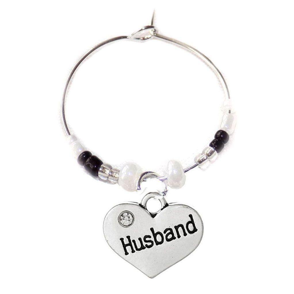 Husband Wine Glass Charm