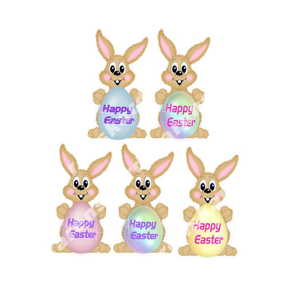 Happy Easter Bunny Card Making Toppers